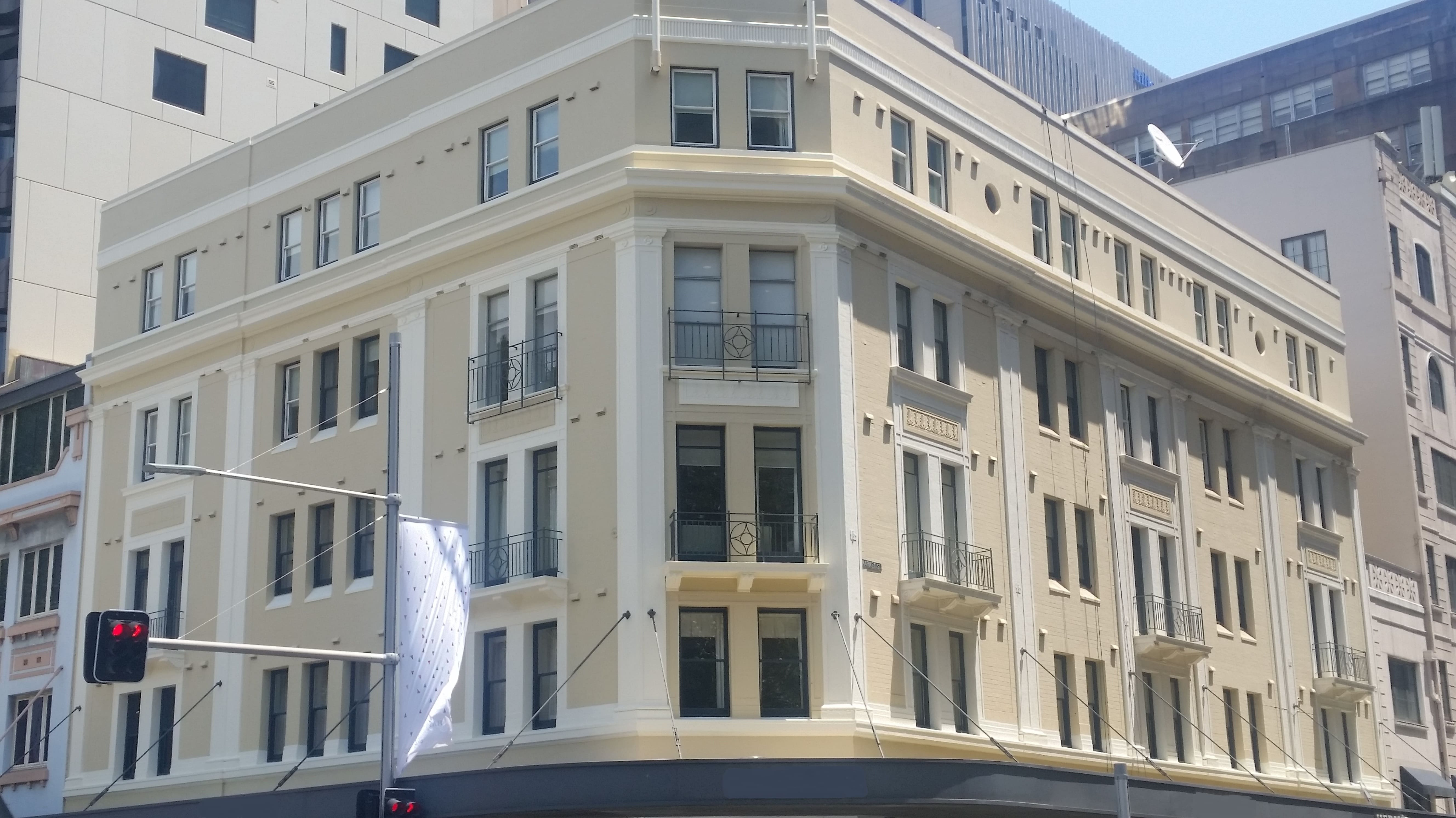 Elizabeth street, Sydney-Abseiling Exterior Painting